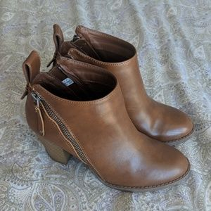 Brown booties. American eagle